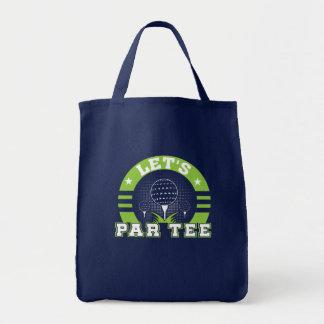 Lets Par Tee Funny Golf Lover Gifts Shirt Tote Bag