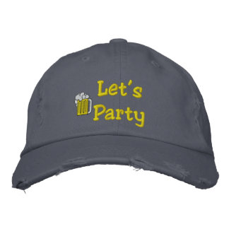 Let's Party Embroidered Hat