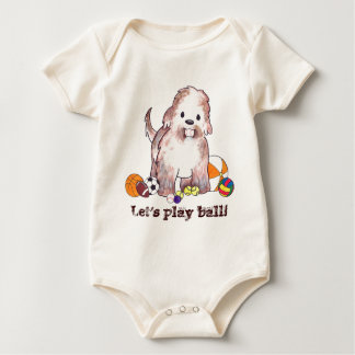 Let's play ball! baby bodysuit