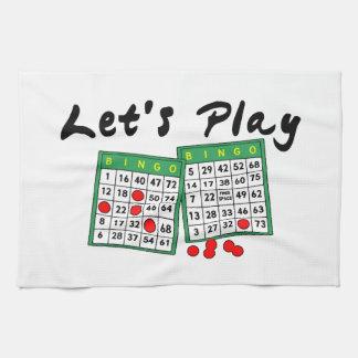 Let's Play Bingo Tea Towel
