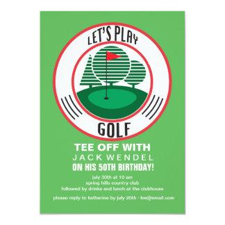 "Let's Play Golf Invitation 5"" X 7"" Invitation Card"