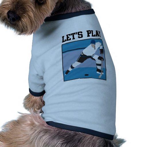 Let's Play Hockey Dog Tshirt