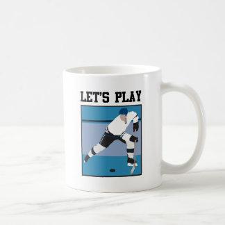 Let's Play Hockey Coffee Mugs
