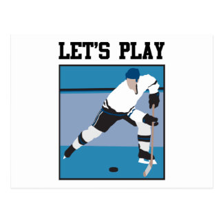 Let's Play Hockey Post Cards