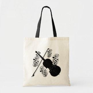 Let's Play,Violin_ Tote Bag