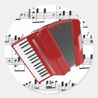 Let's Polka Round Sticker