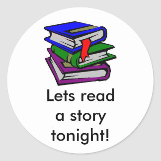 Lets read a story tonight! sticker