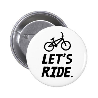 Let's Ride City and Mountain Cyclist Humor 6 Cm Round Badge