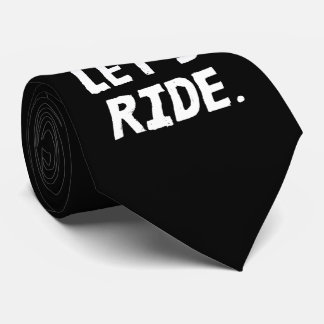 Let's Ride City and Mountain Cyclist Humor Tie