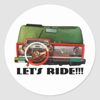 Let's Ride!!! Round Sticker