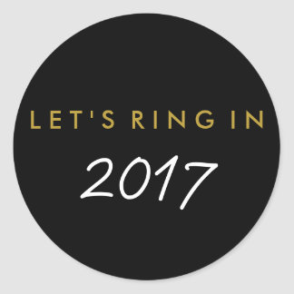 """Let's Ring In"" New Year's Eve Favour Sticker"