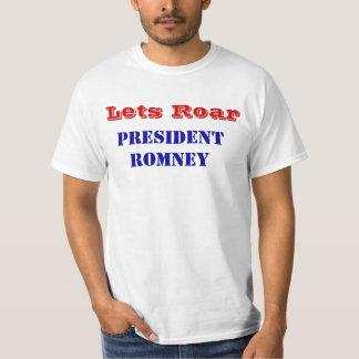 Lets Roar President Romney Victory T Shirt