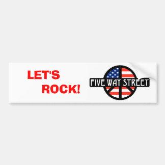 Let's Rock Bumper Sticker