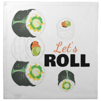 Lets Roll Napkin