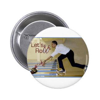 Lets Roll Osama bin Laden Pinback Buttons