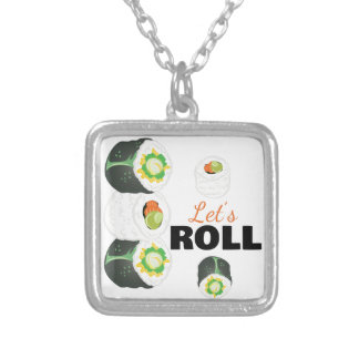 Lets Roll Silver Plated Necklace