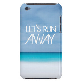 Let's Run Away quote travel saying beach ocean Barely There iPod Cases