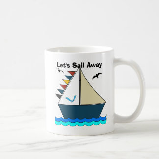 Let's Sail Away Editable Coffee Mug