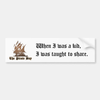Let's Share Bumper Sticker