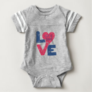 let's share love baby bodysuit
