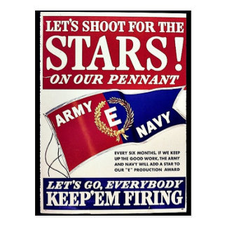 Let's Shoot For The Stars On Our Pennant Post Card