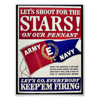 Let's Shoot For The Stars On Our Pennant Print