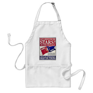 Let's Shoot For The Stars On Our Pennant Standard Apron