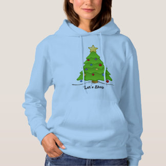 Let's Shop Holiday Sweatshirt with Christmas Tree