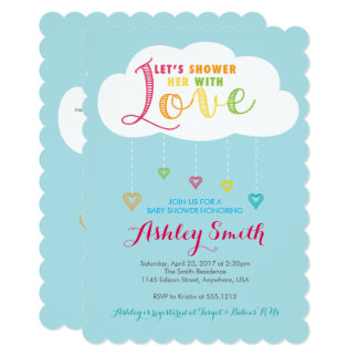 Let's shower her with Love Baby Shower Invitation