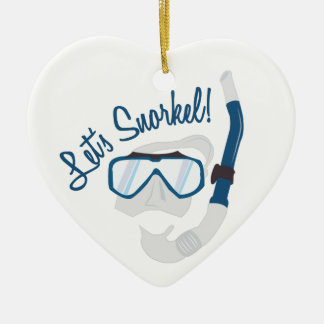 Let's Snorkel! Ceramic Ornament