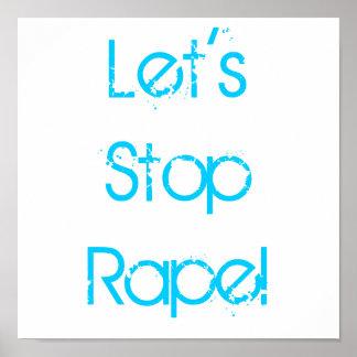 Let's Stop Rape Poster
