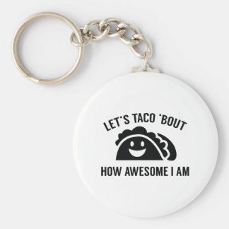 Let's Taco 'Bout Basic Round Button Key Ring