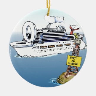 Lets Take A Cruise Funny Gifts Tees & Cards Round Ceramic Decoration