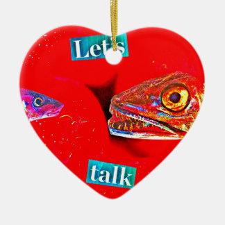 Let's Talk Ceramic Heart Decoration