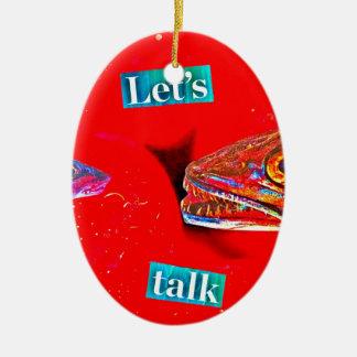 Let's Talk Ceramic Oval Decoration