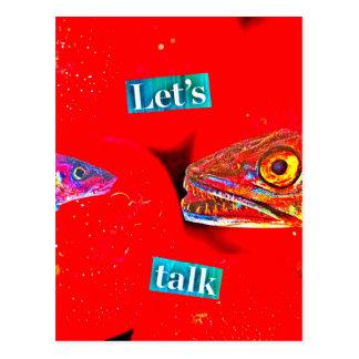 Let's Talk Postcard