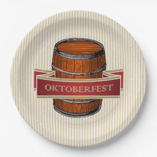 Let's Tap It! Oktoberfest Party Paper Plates