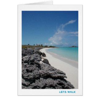 Let's walk card