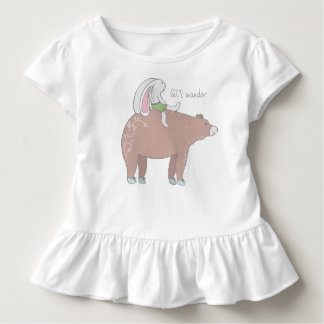 Let's Wander Ruffled Toddler Tee