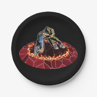 Let's wrestle 7 inch paper plate