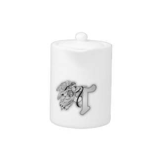 Letter A Angel Monogram Initial