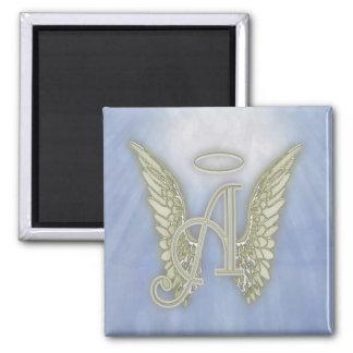 Letter A Angel Monogram Fridge Magnets