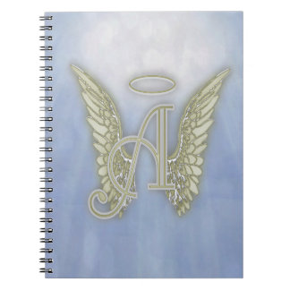 Letter A Angel Monogram Notebook