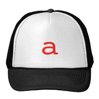 Letter a cap