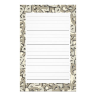 Letter A Gray Stationery Paper