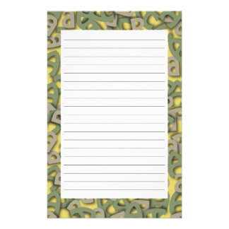 Letter A Green Stationery Design