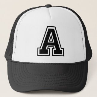 "Letter ""A"" Initial Trucker Hat"