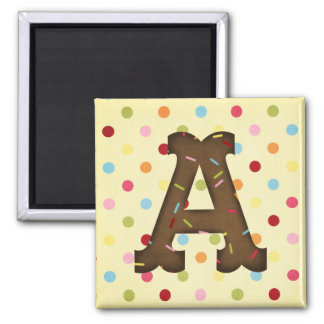 Letter A Square Magnet