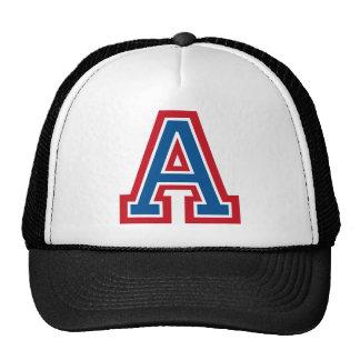 Letter 'A' Monogram Hats