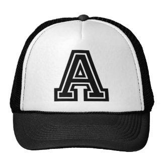 """Letter """"A"""" Monogram Mesh Hats"""